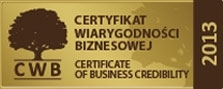 Certificate of Business Credibility 2013